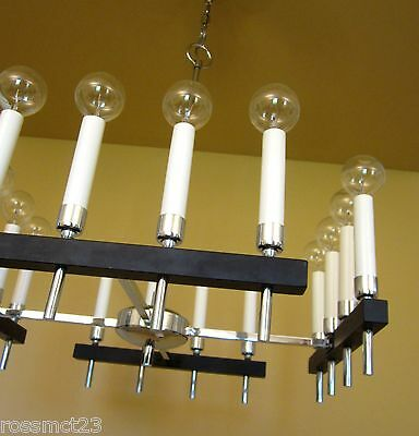 Vintage Lighting circa 1970 Mod square chandelier by Progress