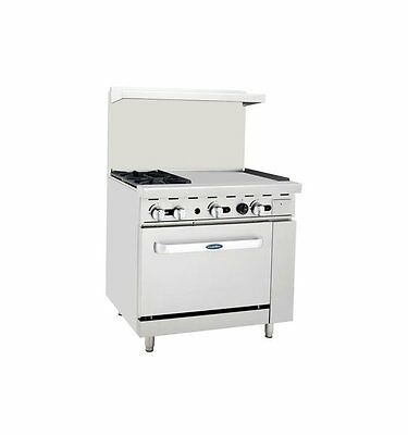 "New Heavy 36"" Range  2 Burners 24"" Griddle 1 Full Oven Stove  Natural Gas Only"