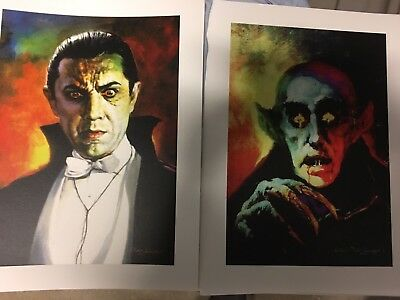 Basil Gogos Rare Giclee Prints Set Of Two Famous Monsters