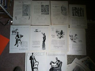 """10 NYC DEPARTMENT STORE FASHION  ABERCROMBIE 1920s 10x14"""" size MAGAZINE ADS"""