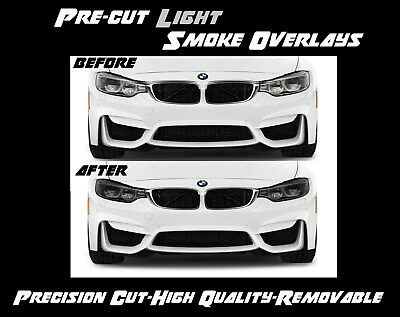 3Series Smoke Side Marker For 2012-2015 BMW F30 Rear Reflector Overlay Tint Kit