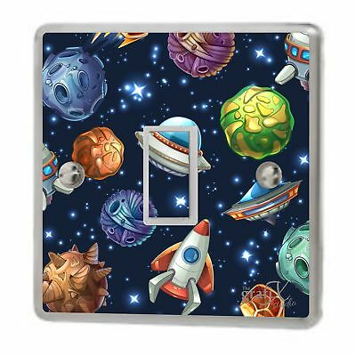 Girls Bedroom Accessories Space And Planets Light Switch Plug Sockets Sticker