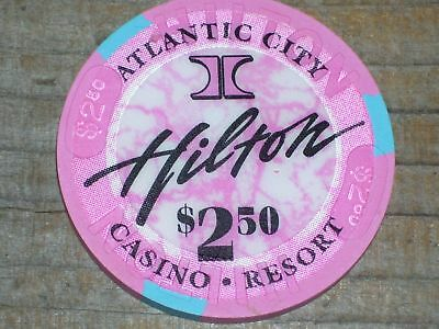 $2.50 1St Edt Chip From The Hilton Casino Atlantic City