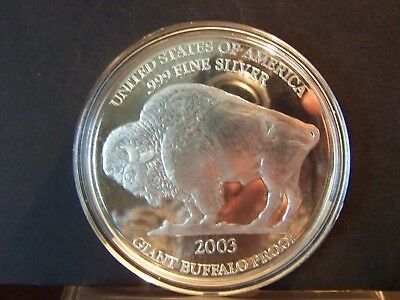 Rare---United States Of America .999 Silver 2003 Giant Buffalo Proof - One Ounce