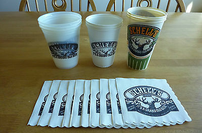 Schells Beer Cups and Napkins (9 cups and 9 napkins)
