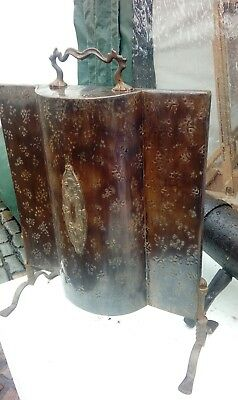 antique bronzed arts and crafts fire screen