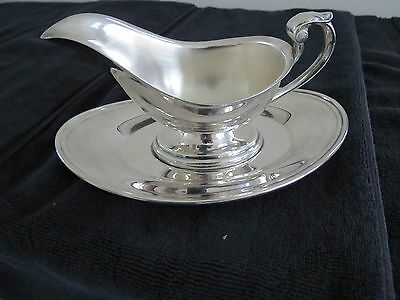 Silver Gravy Boat and Tray  New   Vintage 1974