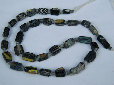 Ancient Mosaic Glass Fragment Beads Strand Roman 200 BC NO RESERVE  #BE5409