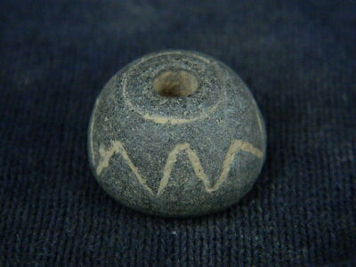 Ancient Stone Bead/Spindle Whorl Gandharan/Gandhara 100 AD NO RESERVE #STN5392