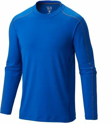 Mountain Hardwear CoolHiker L/S T-Shirt, Mens Wicking Top, Azul Blue, S