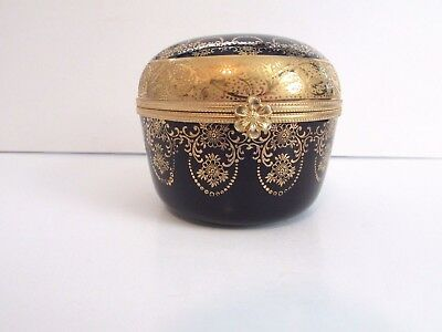 Imperia Lomoges Trinket Box 22K Gold