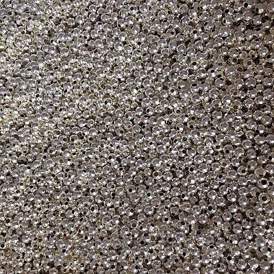925 Silver   2500pcs 4mm Spacer Beads   Craft Clearout   Wholesale Job Lot   NEW