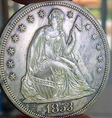 1853 Seated Liberty Dollar Unc Details