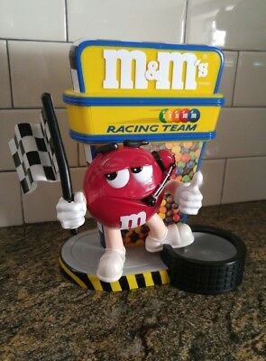 Red M&M's NASCAR Racing Team Candy Dispenser Flag Man Thumbs Up