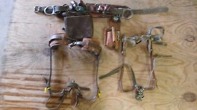BUCKINGHAM  Lineman Utility Tool Belt SIZE 22 and two sets of gaffs