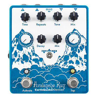 EarthQuaker Devices Avalanche Run V2 Reverb & Delay Pedal
