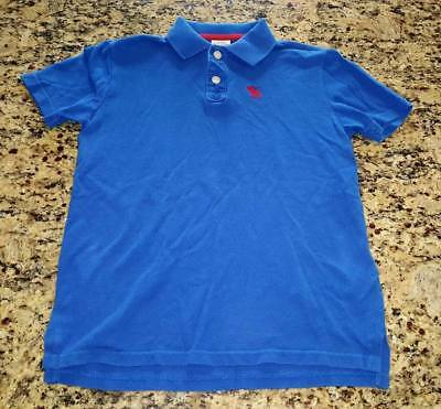 Boys Blue Short Sleeve Abercrombie Kids Polo top Shirt size M 10-12