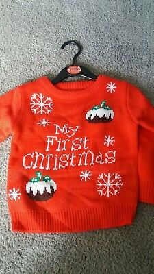 12/18 Month Boys First Xmas Jumper