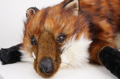 """Red Fox Realistic Quality Stuffed Plush Toy Animal by Ditz Designs 31"""" Length"""