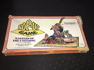 Masters Of The Universe Pop Up Board Game Vintage
