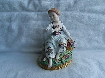 Vintage Sitzendorf Porcelain Figure Figurine Seasons Series Continental  #2