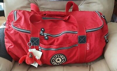 NWT KIPLING Check-In 26 inch Duffle RED Extra Large Bag / Weekend Luggage
