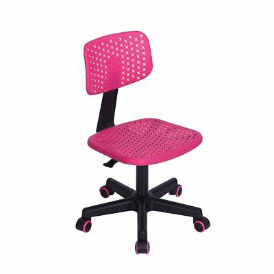 Office Task Adjustable Desk Chair Mid Back Home Children Study Chair in Pink