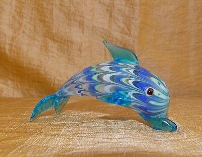 FITZ & FLOYD GLASS MENAGERIE SERIES DOLPHIN Glass Figurine No Box