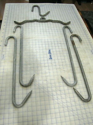 Meat Processing Hooks Farm Hunting Game Vintage Hanging To Process