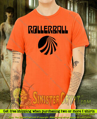 Rollerball Sci Fi Movie James Caan Retro Vintage 70's Cult Film T-Shirt S-6XL
