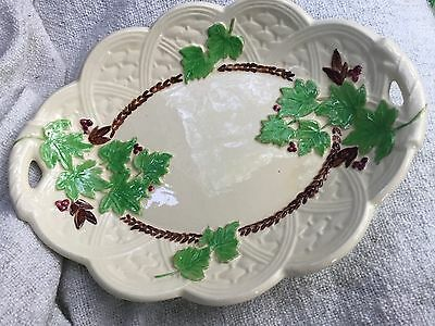 Vintage Ceramic Platter With Leaf Design