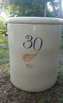 ANTIQUE VINTAGE 30 GALLON CROCK RED WING, additional pictures posted 9 / 19