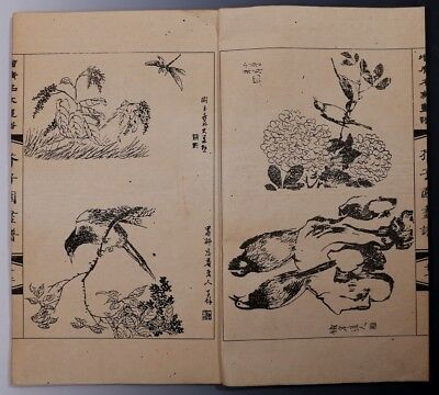 "Large Rare Old Chinese Hand Painting ""JieZiYuan"" Paper Book Marks KK191"