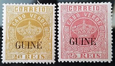 Portugal Guinea 1881 to 1885 Sc # 11 Sc # 13 Mint Stamps