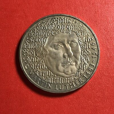1983 Germany 5 Marks world foreign coin Excellent condition