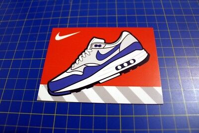 """Retro Air Max 1 OG blue Collectible Sneaker Art Magnet 4"""" x 3"""""""