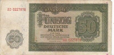 1948 East Germany 50 Deusche Mark Note, Pick 14b