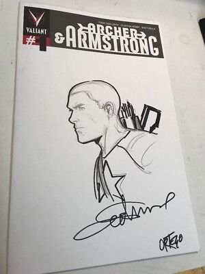 Valiant Double Sketch Cover! Archer & Armstrong / Bloodshot Original Art NYCC