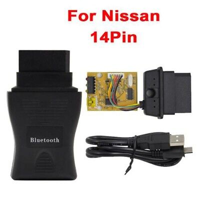 From 1989 to 2001 For Nissan Consult 14 pin USB Diagnostic Interface OBD2 NS USB