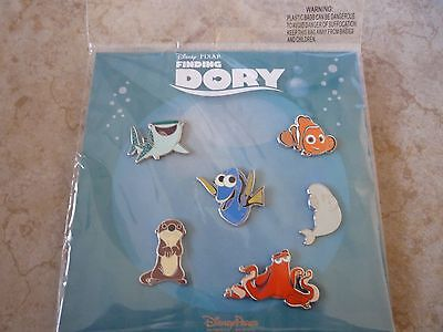 Disney Trading Pins Lot of 6 New Booster Set Finding Dory Bruce Nemo Bailey Hank