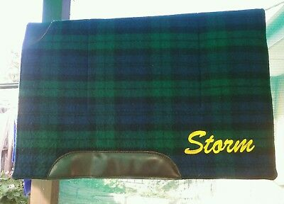 Stock / Half Breed Saddle Pad Personalised with the name STORM