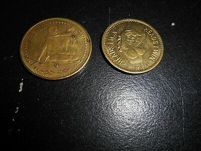 "Vintage Exonumia Lot Tokens Erotic XXX Connect With A Leo ""Friendly"" Heads Tails"