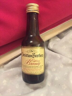 Vintage Christian Brothers California Brandy Small Bottle