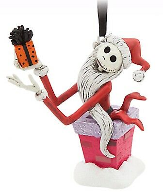 Disney Store 2017 Jack Skellington Santa Chimney Sketchbook Ornament Sandy Claws