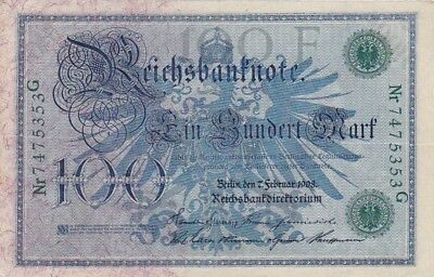EF 1908 Germany 100 Mark Note, Pick 34
