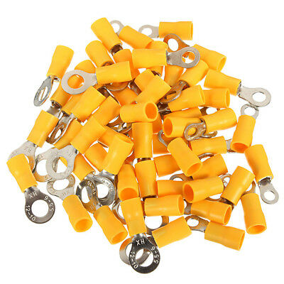 New 20PCS 4-6mm² Yellow Ring Heat Shrink Electrical Terminals Connectors 4mm