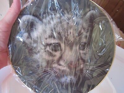Princeton Gallery Plate Snow Leopard collectible plate