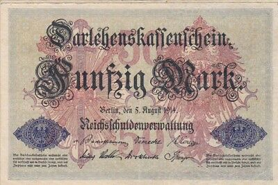 1914 Germany 50 Mark Note, Pick 49