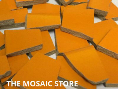 Orange Irregular Ceramic Tiles for Mosaic Art & Craft Tiles & Supplies