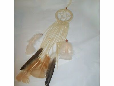 Small handmade dream catcher, beautiful soft look. 'Cloud Nine'.
